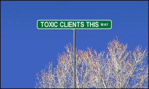 Toxic Clients Street sign
