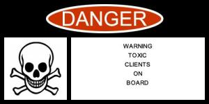 warning label toxic clients